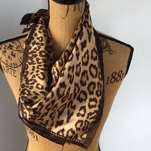 Banana Republic leopard print silk square scarf